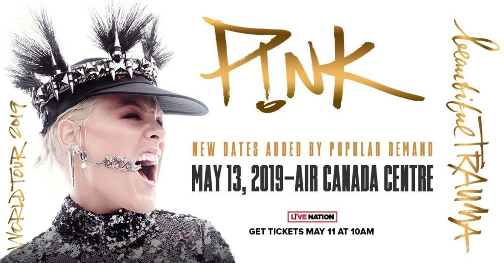 P!NK Announces 2019 North American Dates For Acclaimed