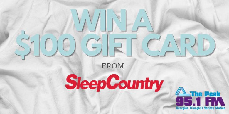 Win $100 from Sleep Country