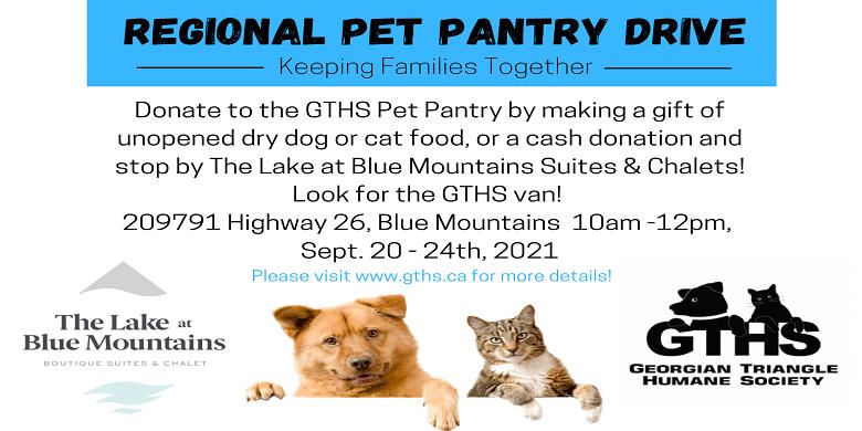 GTHS Pet Pantry Drive
